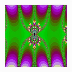 Green And Purple Fractal Medium Glasses Cloth (2 Side)