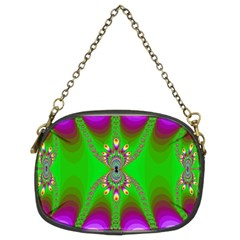 Green And Purple Fractal Chain Purses (two Sides)