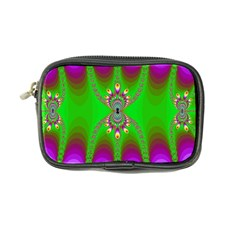 Green And Purple Fractal Coin Purse