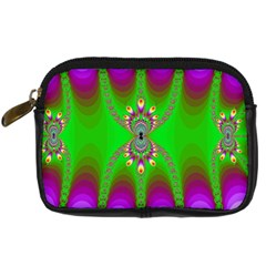 Green And Purple Fractal Digital Camera Cases