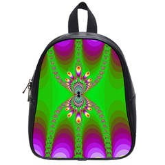 Green And Purple Fractal School Bags (Small)
