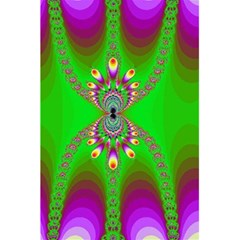 Green And Purple Fractal 5 5  X 8 5  Notebooks