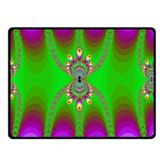 Green And Purple Fractal Fleece Blanket (small)
