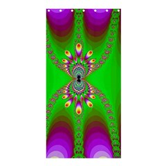 Green And Purple Fractal Shower Curtain 36  x 72  (Stall)