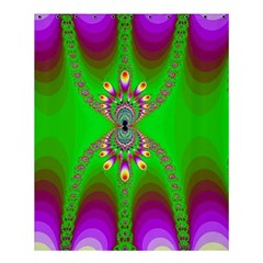 Green And Purple Fractal Shower Curtain 60  X 72  (medium)