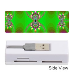 Green And Purple Fractal Memory Card Reader (stick)