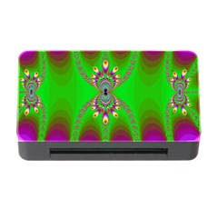 Green And Purple Fractal Memory Card Reader With Cf