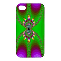 Green And Purple Fractal Apple Iphone 4/4s Hardshell Case