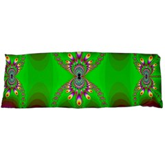 Green And Purple Fractal Body Pillow Case Dakimakura (two Sides)