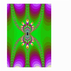 Green And Purple Fractal Small Garden Flag (two Sides)