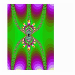 Green And Purple Fractal Large Garden Flag (two Sides)