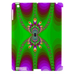 Green And Purple Fractal Apple Ipad 3/4 Hardshell Case (compatible With Smart Cover)