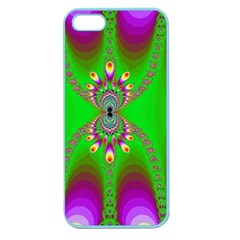 Green And Purple Fractal Apple Seamless Iphone 5 Case (color)