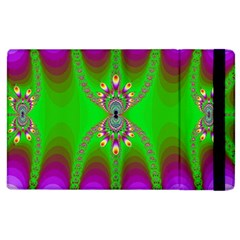 Green And Purple Fractal Apple Ipad 3/4 Flip Case