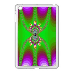 Green And Purple Fractal Apple Ipad Mini Case (white)