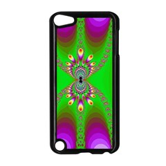 Green And Purple Fractal Apple Ipod Touch 5 Case (black)