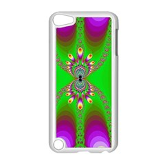 Green And Purple Fractal Apple Ipod Touch 5 Case (white)
