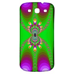 Green And Purple Fractal Samsung Galaxy S3 S Iii Classic Hardshell Back Case