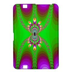 Green And Purple Fractal Kindle Fire Hd 8 9