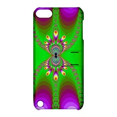 Green And Purple Fractal Apple Ipod Touch 5 Hardshell Case With Stand