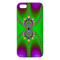 Green And Purple Fractal Apple Iphone 5 Premium Hardshell Case