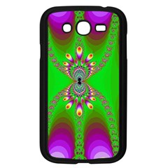 Green And Purple Fractal Samsung Galaxy Grand Duos I9082 Case (black)