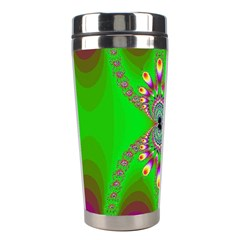 Green And Purple Fractal Stainless Steel Travel Tumblers