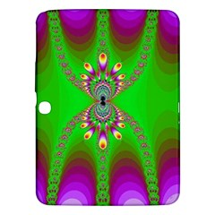 Green And Purple Fractal Samsung Galaxy Tab 3 (10 1 ) P5200 Hardshell Case