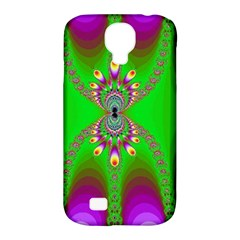 Green And Purple Fractal Samsung Galaxy S4 Classic Hardshell Case (pc+silicone)