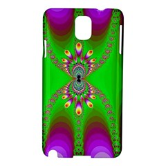 Green And Purple Fractal Samsung Galaxy Note 3 N9005 Hardshell Case