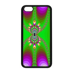 Green And Purple Fractal Apple Iphone 5c Seamless Case (black)
