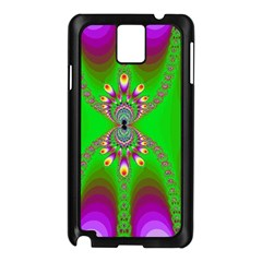Green And Purple Fractal Samsung Galaxy Note 3 N9005 Case (black)