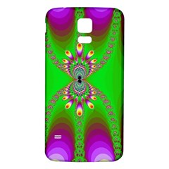 Green And Purple Fractal Samsung Galaxy S5 Back Case (white)
