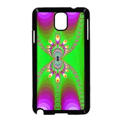 Green And Purple Fractal Samsung Galaxy Note 3 Neo Hardshell Case (black)