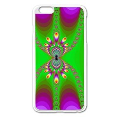 Green And Purple Fractal Apple Iphone 6 Plus/6s Plus Enamel White Case