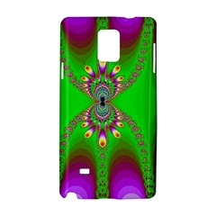 Green And Purple Fractal Samsung Galaxy Note 4 Hardshell Case