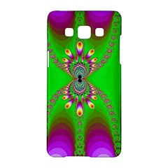 Green And Purple Fractal Samsung Galaxy A5 Hardshell Case
