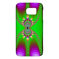 Green And Purple Fractal Galaxy S6