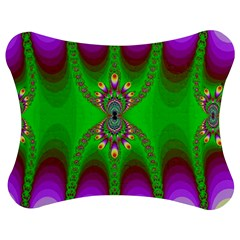 Green And Purple Fractal Jigsaw Puzzle Photo Stand (Bow)
