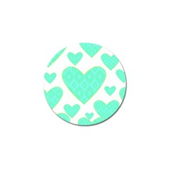 Green Heart Pattern Golf Ball Marker