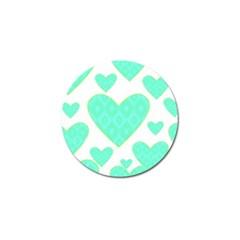 Green Heart Pattern Golf Ball Marker (10 Pack)