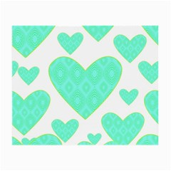 Green Heart Pattern Small Glasses Cloth