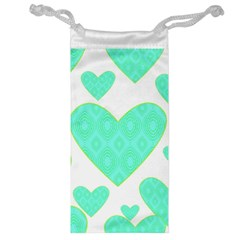 Green Heart Pattern Jewelry Bag