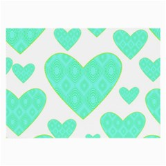 Green Heart Pattern Large Glasses Cloth