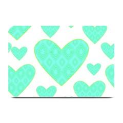 Green Heart Pattern Plate Mats