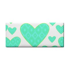 Green Heart Pattern Cosmetic Storage Cases