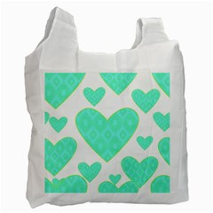 Green Heart Pattern Recycle Bag (two Side)