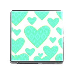 Green Heart Pattern Memory Card Reader (square)