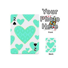 Green Heart Pattern Playing Cards 54 (mini)
