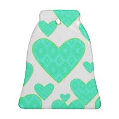 Green Heart Pattern Bell Ornament (two Sides)